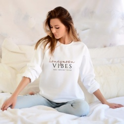 Honeymoon Vibes Personalised Sweatshirt