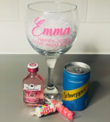 Personalised Pink Gin Gift Set