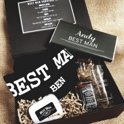 Build Your Own Male Gift Box - Groom / Groomsman / Usher / Father of Bride / Groom