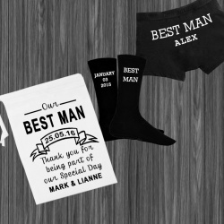 Personalised Best Man gift set
