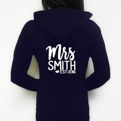 MRS Personalised Zip Up Hoodie