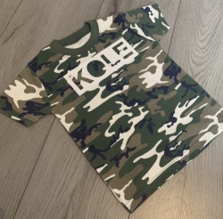 Personalised Block Name Camo T-Shirt
