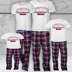 Personalised Red Family Tartan Pyjama Set