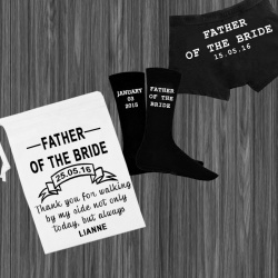 White Father of the Bride Personalised Gift Set