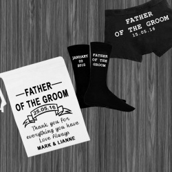 White Father of the Groom Personalised Gift Set