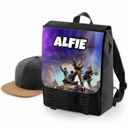 Black Galaxy Fortnite Personalised Rucksack