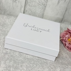 Christy Personalised White Gift Box