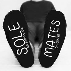 Personalised 'Sole mates' Bottom Printed Socks
