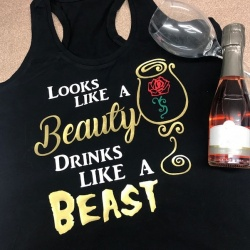 Look like a Beauty, Drink Like a Beast Vest Top
