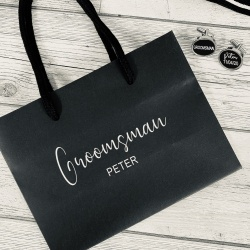 Personalised Gift Bag & Cufflinks