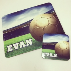 Football Placemat and Coaster Set