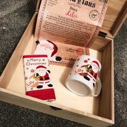 Personalised Wooden Xmas Eve Set