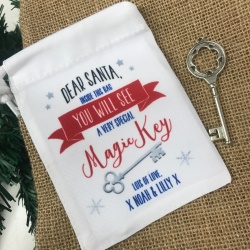 Santa's Magic Key & Personalised Gift Bag