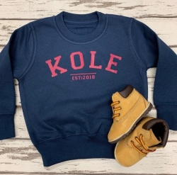 Personalised Name / Est Sweatshirt - Children & Adults