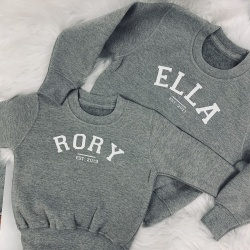 Varsity Style Sweatshirt - Baby, Children & Adults