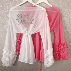 Personalised Short Frilly Cover Up Kaftan