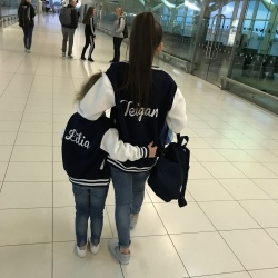 SALE Age 5/6 Navy&White Personalised Varsity Jacket