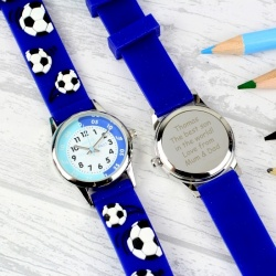 Boys Engraved Time Teacher Football Watch with Presentation Box