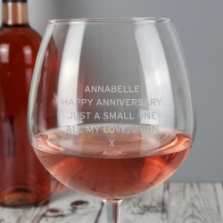 Personalised Bottle of Wine XL Glass