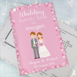 Girls Personalised Wedding Activity Book