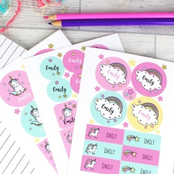 Personalised Baby Unicorn Stickers