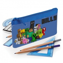 Blue Minecraft Personalised Pencil Case