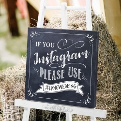 Black & White Instagram Wedding Sign