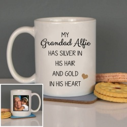 Grandad ' Silver in his hair, gold in his heart' Ceramic Mug