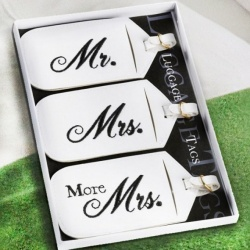 Mr Mrs & More Mrs Luggage Tags