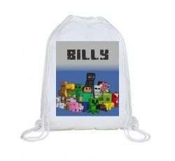 Minecraft Personalised Swim Bag