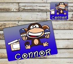 Monkey Placemat and Coaster Set