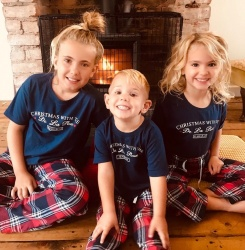 Personalised Red Star Family Tartan Pyjama Set