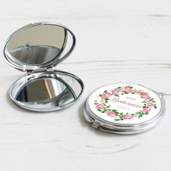 Personalised Floral Cosmetic mirror