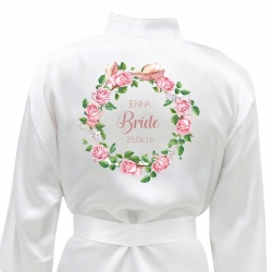 Personalised Floral Kimono Robe Gown