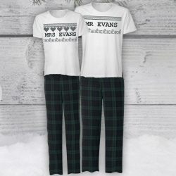 Nordic Green Personalised Pyjama Set