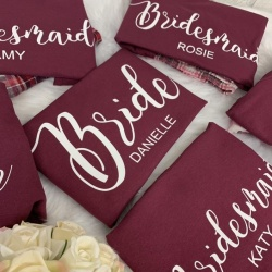 Burgundy Bridal Party Pyjama's