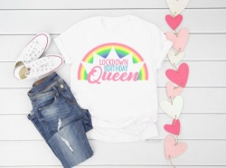 Lockdown Birthday Queen Rainbow Pastel T-Shirt