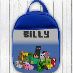 Blue Personalised Minecraft Lunch Bag