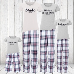 ''Aliah' Personalised Bridal Party Pyjamas 0/6 Months - Ladies 16
