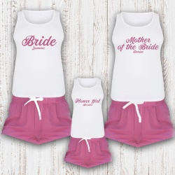Personalised 'Pink Ocean' Adult / Child PJ Set