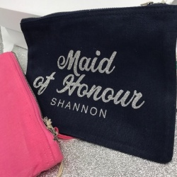 Jenna Personalied Clutch Bag / Cosmetic Bag