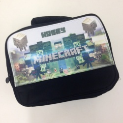 Black Classic Personalised Minecraft Lunch Bag