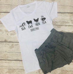 SEA EWE HEN TEA Ladies Personalised Pyjama Set