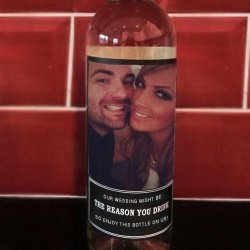 'Our Wedding May Be The Reason You Drink' Wine Bottle Labels